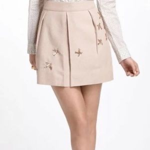 Anthropologie Leifnotes Sequined Bird Skirt-Size 0